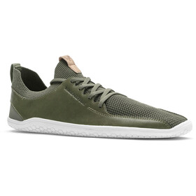 Vivobarefoot PrImus KnIt Leather Shoes Men olive green
